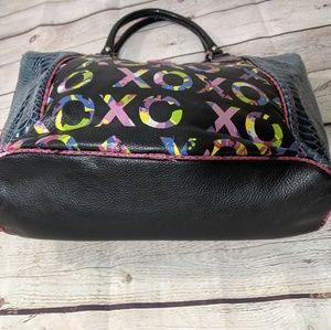XOXO Bags - XOXO Multicolored Faux Snakeskin Purse